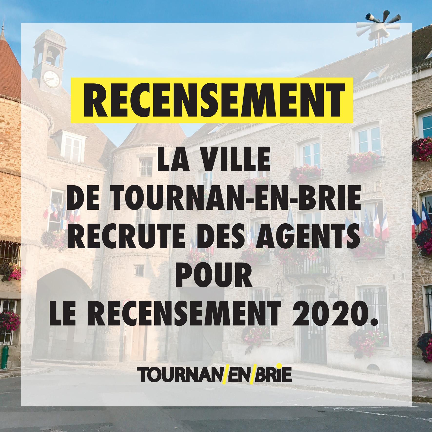 Recensement 2020: la Ville recrute!