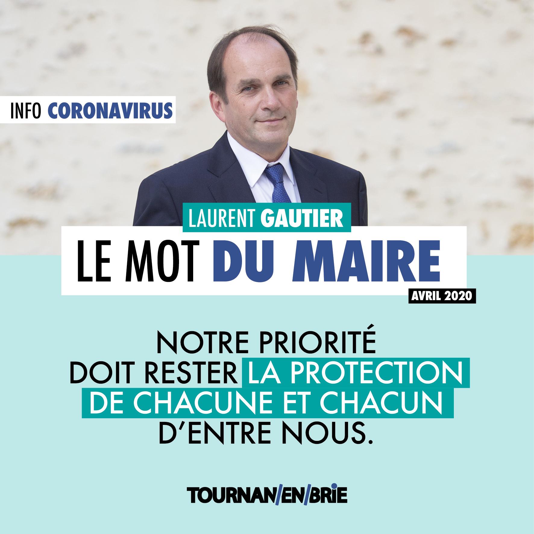INFO CORONAVIRUS: LE MOT DU MAIRE - AVRIL 2020